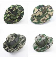 Outdoor fisherman hat mountaineering fishing camouflage Hat anni jungle round side army fan cap