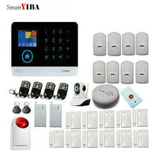 SmartYIBA Wireless WCDMA/CDMA 3G WIFI Burglar Intruder Alarm System Video Camera Shock Sensor Motion Alarm For Home Security