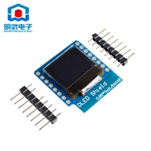 0.66″ inch 64X48 IIC I2C OLED LED LCD Dispaly Shield for Arduino Compatible WeMos D1 mini