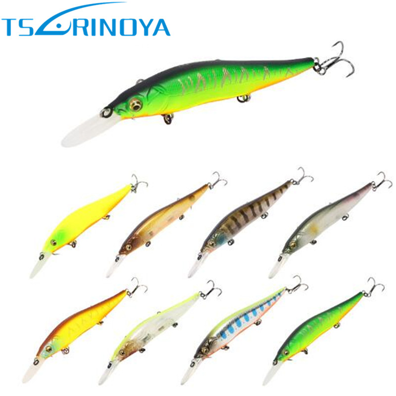 2017 Tsurinoya Minnow Fishing Lure 110mm/14.7g Diving Depth 1.5m Hard Bait Fishing Wobblers Isca Artificial Carpe Leurre Souple