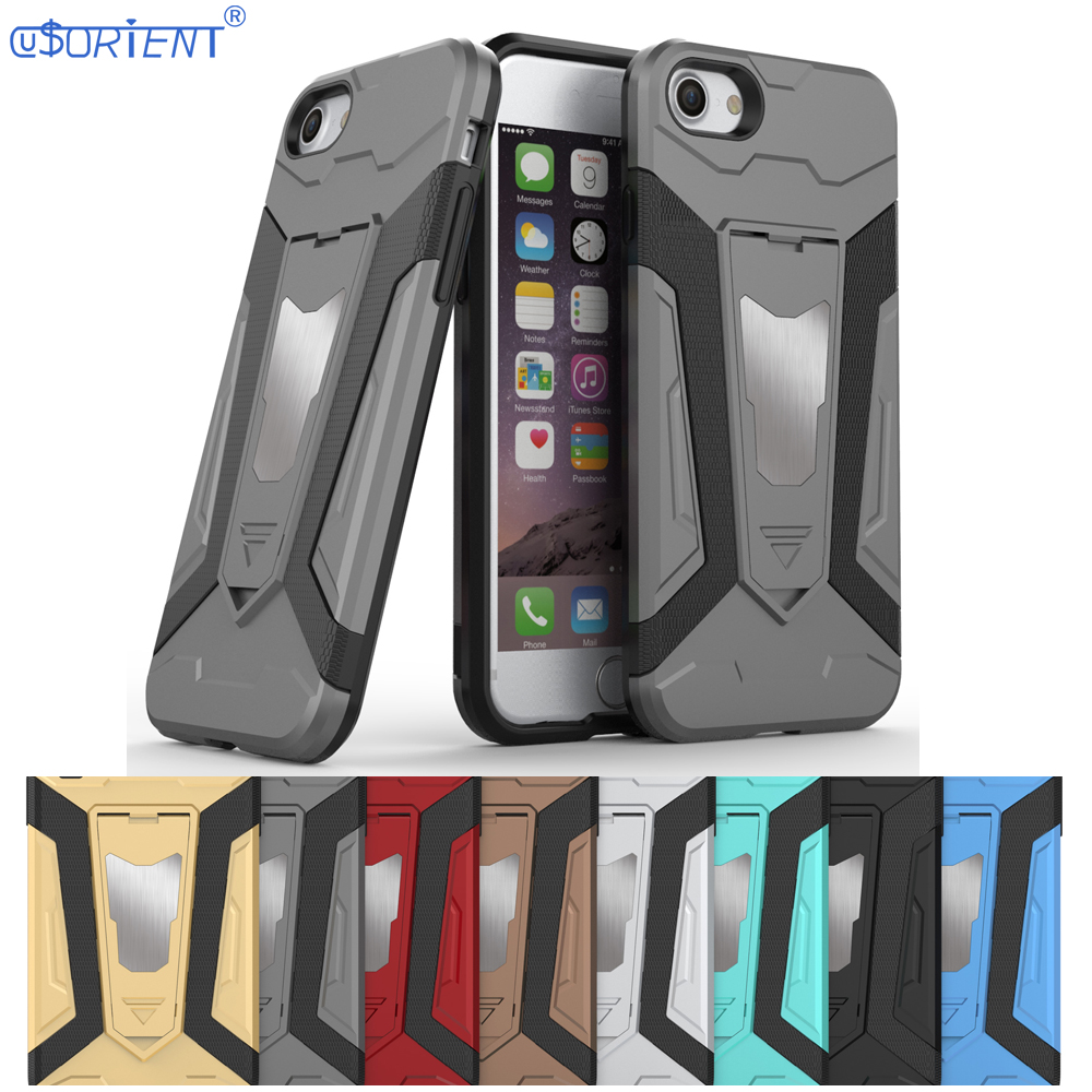 Bumper Cover for Apple iPhone 7 8 Car Holder Armor Phone Case iPhone7 Soft TPU and Hard PC Dual Shockproof Casing iPhone8 Fundas ...