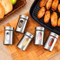 Стеклянный шейкер для специй  бутылка для соуса  банка для хранения приправ  травы  контейнерная приправа  держатель для барбекю  кухонные п...