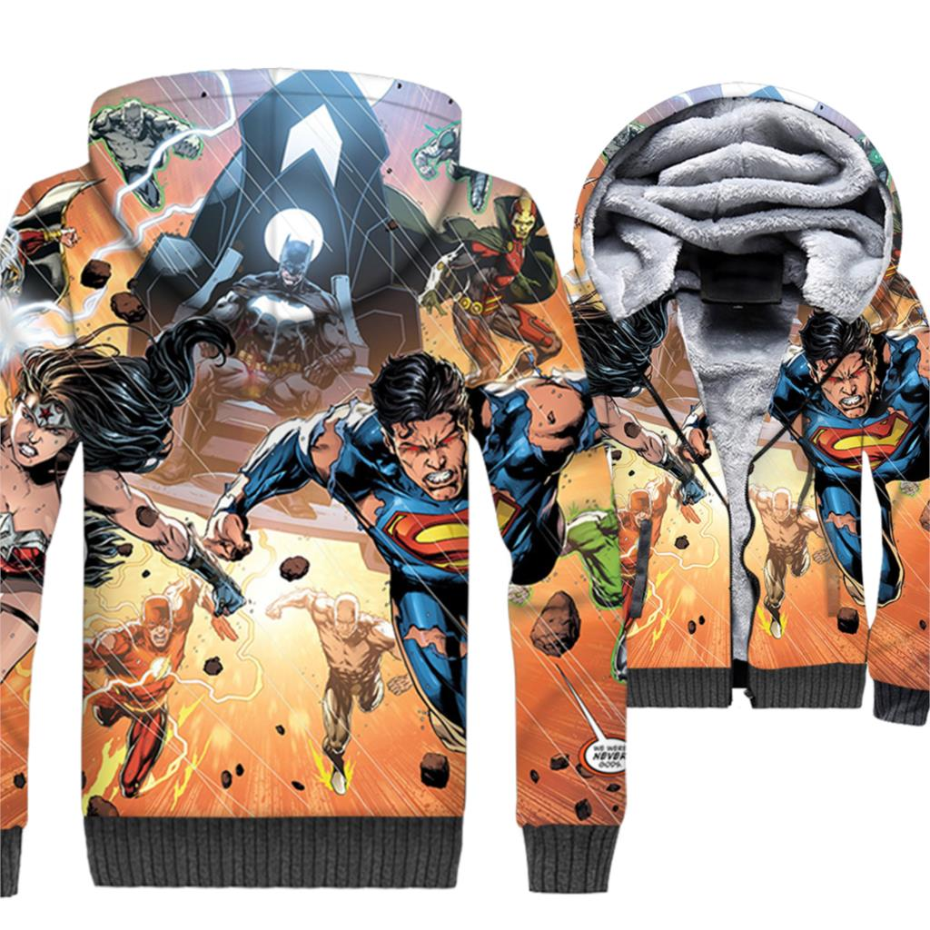 Wonder Woman sweatshirts Superman batman jackets winter thick coats men superhero 2019 fashion 3D printed hoodies tracksuits man