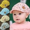 Nuevos Niños de La Manera Muchachas de Los Bebés Del Verano Sombreros de Sun Del Bebé Niños toodler boy girl girls sombrero de sol gorra de béisbol de algodón lindo cap 4 colores