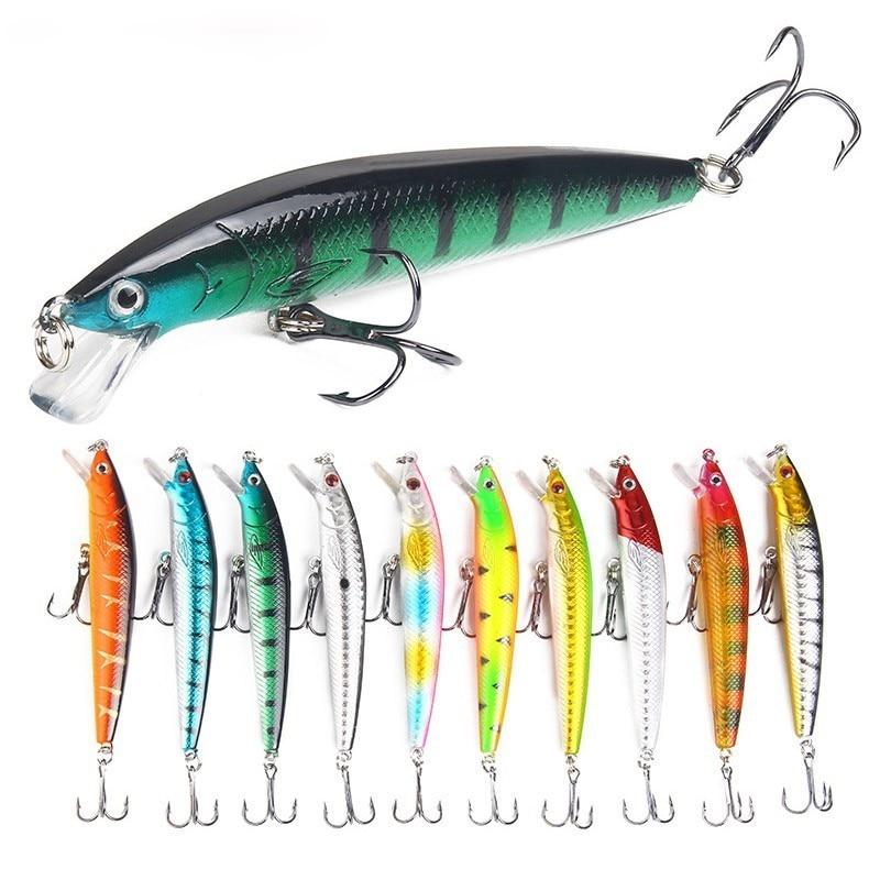 10Pcs/lot 10cm 7.5g Hard Aritificial Wobblers Minnow Fishing Bait Lure Floating Pesca Bait Fish Lures For Ocean Rilver