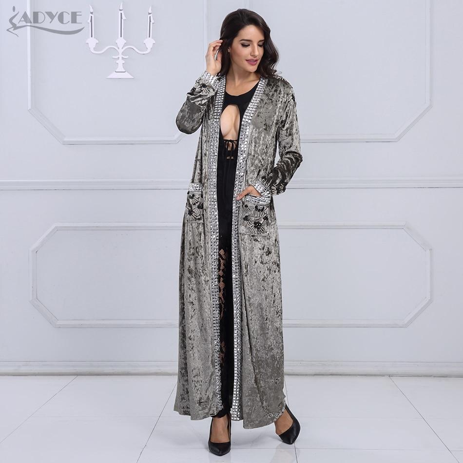 Adyce Beading Long Style Coat Y2158