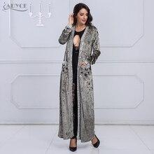 Adyce 2019 New Long Fashion Coat Women Gray Brown Long Sleev