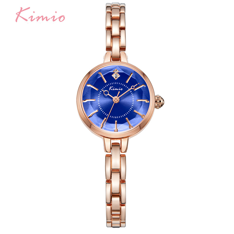 Kimio Brand Women Bracelet Watches 2017 New Ladies Crystal Multi-faceted Dial Luxury Dress Wrist Watch Clock Rose Gold Relogio kimio brand bracelet watches women reloj mujer luxury rose gold business casual ladies digital dial clock quartz wristwatch hot