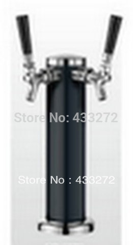 Двойной Краны Chrome, Пиво башня Разливное пиво башня черный