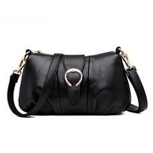 2019 Hot Genuine Leather Women Messenger Bag Famous Brand Female Shoulder Bag Envelope Clutch Bag Crossbody Bag Purse for Women