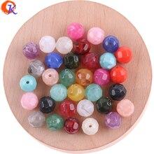 Cordial tasarım 600 adet/grup 12*12MM takı aksesuarları disko topu akrilik boncuk mermer etkisi boncuk el yapımı takı yapımı