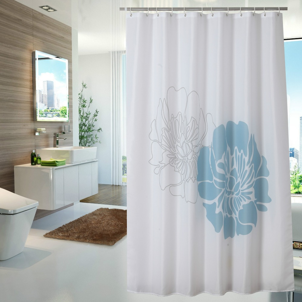 Atmospheric Personality Polyester Shower Curtain Green Waterproof Mildew Household Items Shower