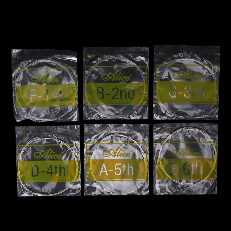Classical Guitar Strings Set 6-string Classic Guitar Clear Nylon Alice A108 #35/11W