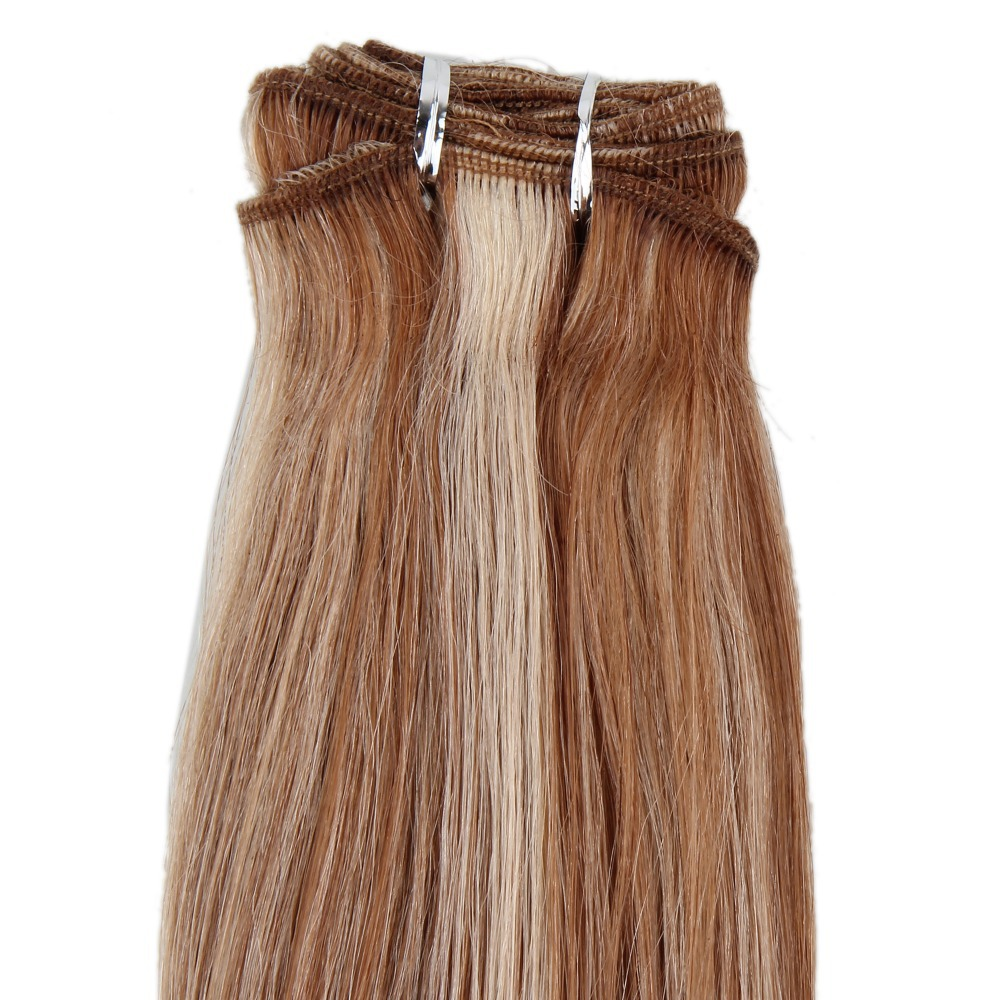 20100 Hair Extension Weft Light Ash Brownnatural Blonde 1024