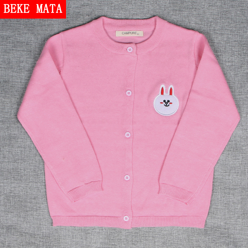 1-5Y Baby Sweaters For Girls Kids Clothes Autumn 2016 Casual Cotton Warm Sweater Boy Knitted Long Sleeve Cartoon Children Jacket