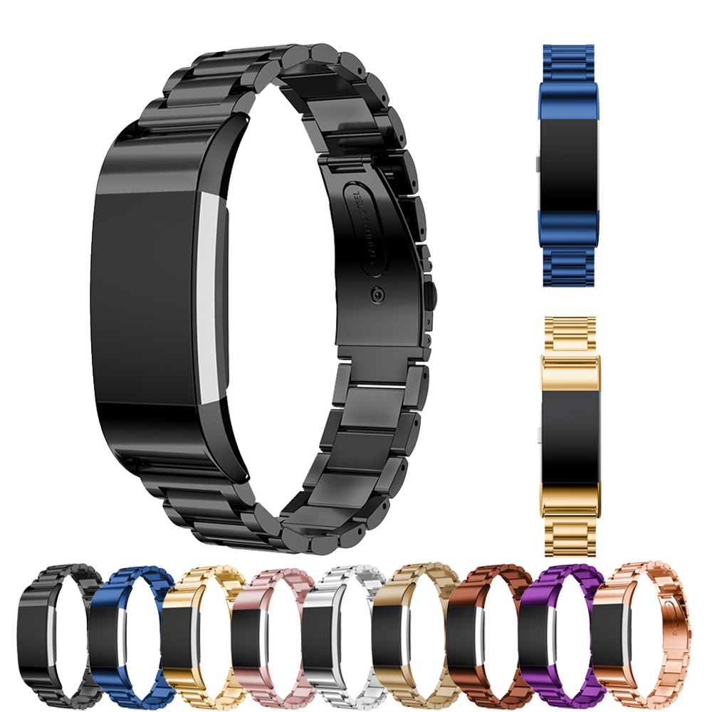Link Bracelet for Fitbit Charge 2 band Replacement 316L Stainless Steel Metal strap wrist watchband fitbit charger2 smartwatch replacement accessory metal watch bands bracelet strap for fitbit alta fitbit alta hr fitbit alta classic accessory band