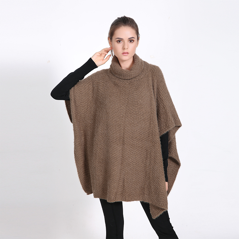 2016 Luxury Brand Winter for Women Poncho Solid Blanket Lady Thicken Shawl Cape Mohair <font><b>Scarf</b></font> Oversized Sweater Cardigan Pullover