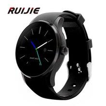 K88S Wasserdichte Runde Smart Watch Phone Bluetooth 4,0 MTK2502C SIM Smartwatch Für iOS Andriod Schrittzähler Pulsmesser