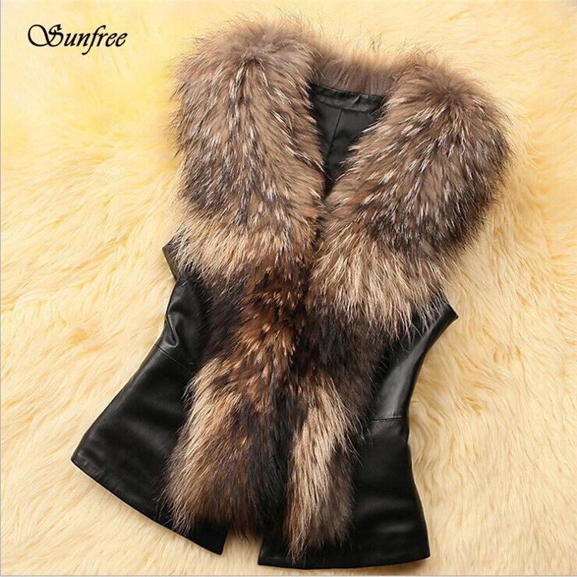 9311d3cf93 ... Hot Sale Womens Faux Fur Vest Jacket Sleeveless Winter Body Warm Coat  Waistcoat Gilet Brand New High Quality Nov 28-in Vests   Waistcoats from  Women s ...
