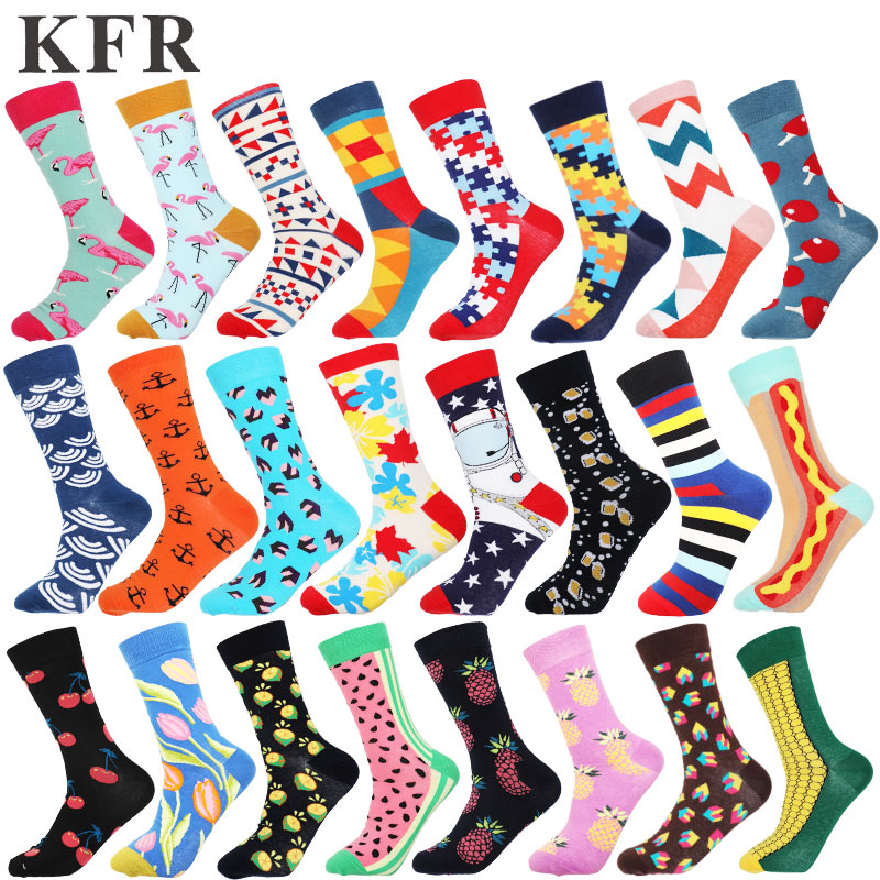 Funny Cute Happy Socks Womens Men Colour Crew Cotton Short With Print Casual Harajuku Designer Art Female Fashion Socks Summer