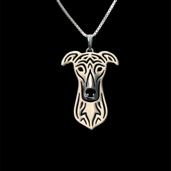 Greyhound jewelry - Gold and silver pendant and necklace jewelry Simple abstract animal free ship 12pcs/lot