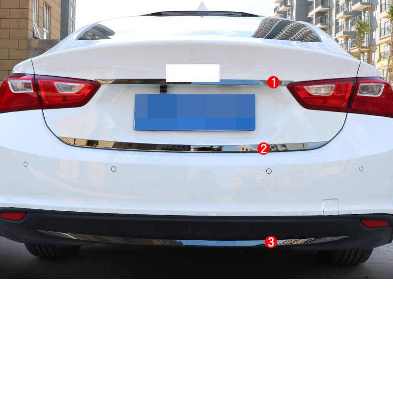 Lsrtw2017 Stainless Steel Car Trunk Tailgate Strip Trims for Chevrolet Malibu XL 2012 2013 2014 2015 2016 2017 2018 2019 2020