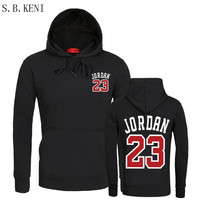 2018 Brand New Fashion JORDAN 23 Men Sportswear Print Men Hoodies Pullover Hip Hop Mens Tracksuit