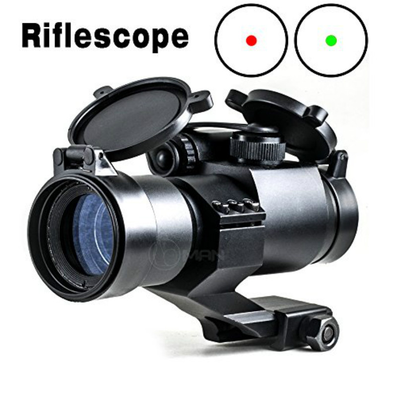 ФОТО Optics Red/Green Laser Dot Illuminated Scope Holographic Sight M2 with 21mm Weaver/Picatinny Rail for AR15 Rifle/Airsoft Aiming