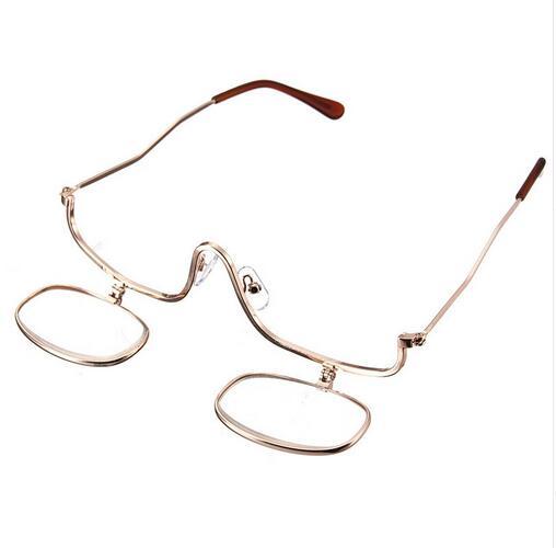 Frauen Dual 2 Make Vergrößerungs Teile Unten up 10 Kosmetik Brille Flip Objektiv Einstellbare Gläser los 3x UqwXrU4B