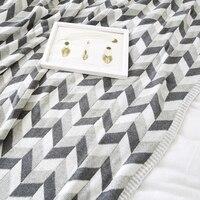 Collalily Nordic 100% хлопок диван Пледы одеяло современный геометрический полосатый плед серый Постельные принадлежности кровать мягкая Пледы ков...