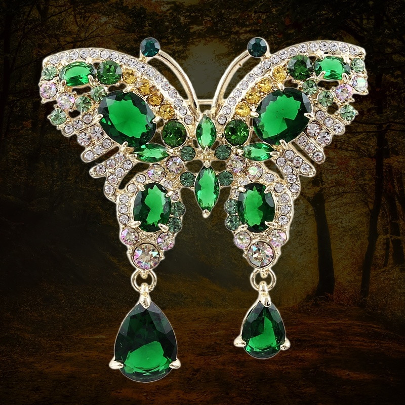 large vintage crystal Luxury butterfly brooches for women 2019 Wedding boquets made with crystal from swarovski