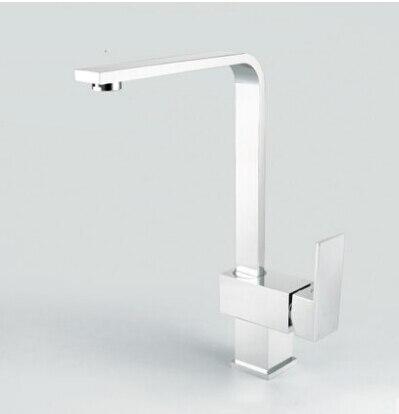 Livraison gratuite! 2013 meilleur exclusif unique carré cuivre évier de cuisine robinet chaud et froid salle de bain bassin mélangeur robinet de qualité supérieure