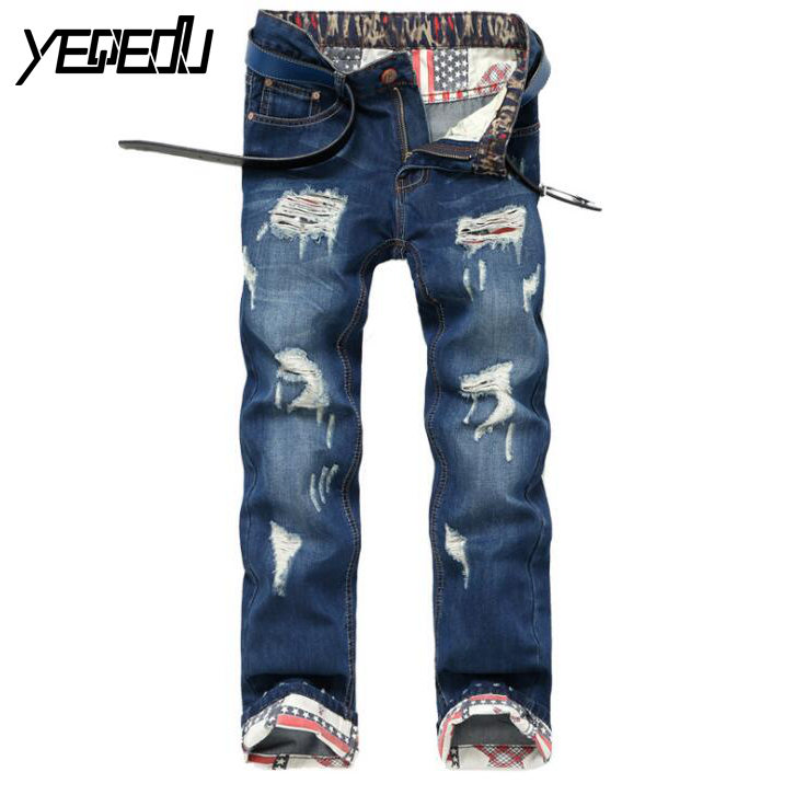 #3414 Biker denim jeans Slim Ripped jeans for men Skinny Distressed Straight Pantalon homme High quality brand Mens denim pant 2017 fashion patch jeans men slim straight denim jeans ripped trousers new famous brand biker jeans logo mens zipper jeans 604
