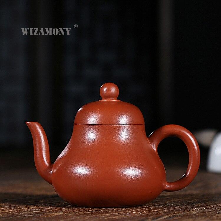 WIZAMONY Handmade Purple Clay tea set Zisha Ceramics Arts xishi Teapot Porcelain yixing Clay China Tea Set Tea cup Drinkware-in Teapots from Home & Garden    1