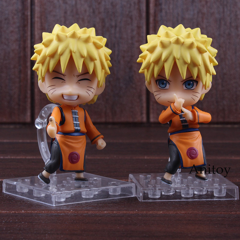Naruto Shippuden Toys Uzumaki Naruto Figure Q Version PVC Action Figures Collectible Model Toys 2pcs/set 1