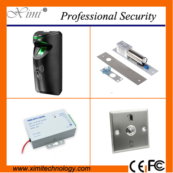 Standalone access control system TCP/IP fingerprint door access control kit with power supply,Metal switch button good quality waterproof fingerprint reader standalone tcp ip fingerprint access control system smat biometric door lock