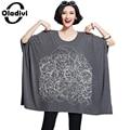 Oladivi 2017 nuevo más el tamaño mujeres clothing camisa estilo flojo ocasional del o-cuello de la manera de las señoras de gran tamaño tops tees túnica camiseta 10xl
