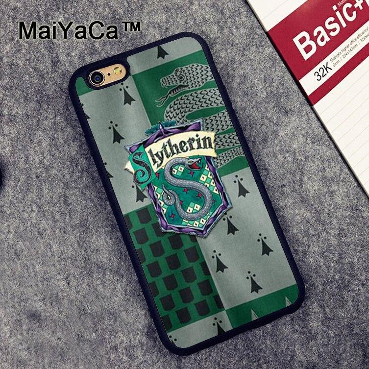 MaiYaCa בית סלית 'רין הארי פוטר מודפס רך מקרי טלפון TPU עבור iPhone 6 6 S בתוספת 7 8 תוספת 5 5S SE X חזור עור מעטפת כיסוי