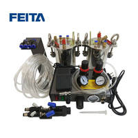 FEITA Semi auto Glue Dispenser A B Mixing Doming Liquid Glue Dispensing Machine Equipment for LED Light DIY LCD Sticker