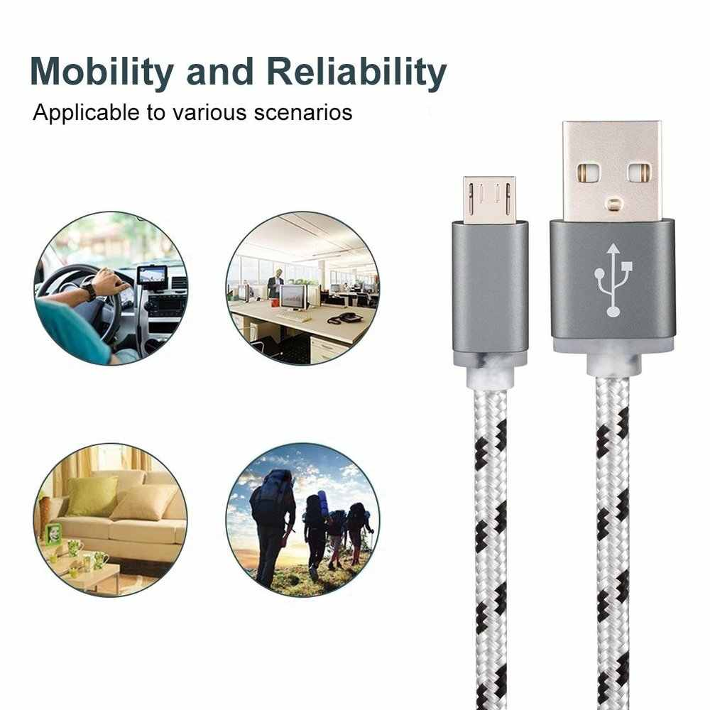 0.25M/1M/2M/3M Korte Micro Usb Oplader Voor Xiaomi Redmi Note 5 plus Note5 5A 6A S2 6 Pro Microusb Oplader Doogee S60 Lite / S30