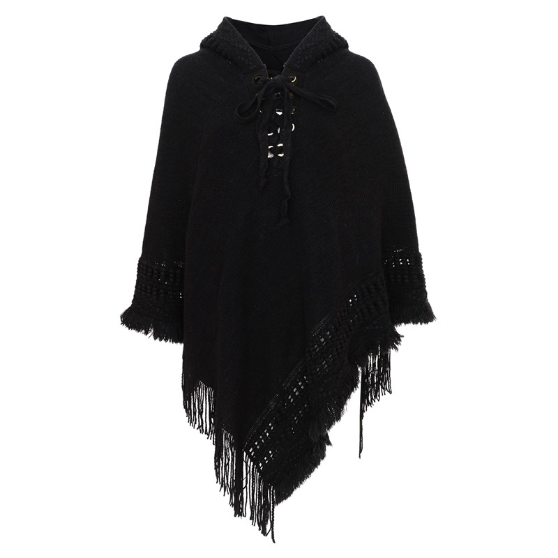 Rope Pullover Poncho Women's 5