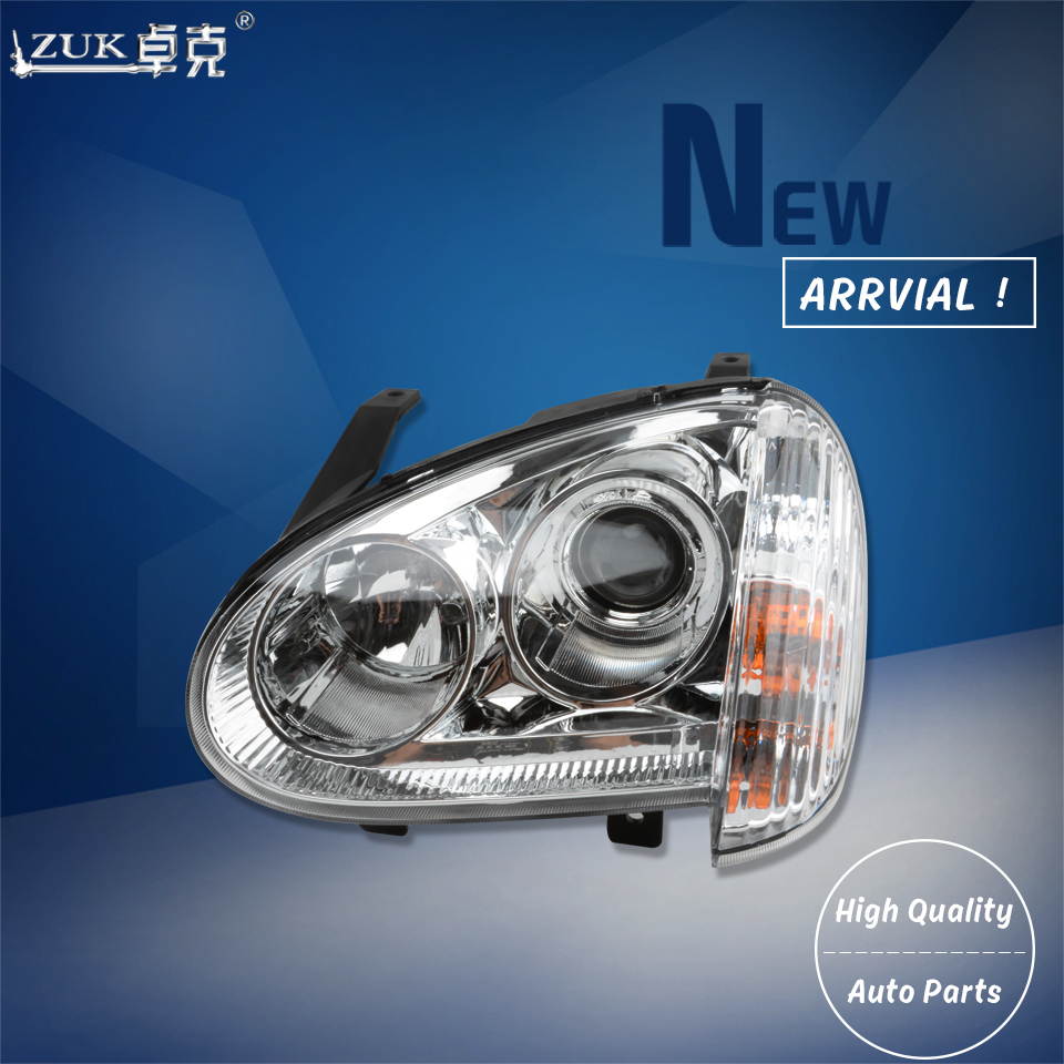 ZUK 2PCS High Quality Headlight Head Light For Great Wall Wingle 3 2006-2008 2011 Front Headlamp Head Lamp Manual/Electric Type