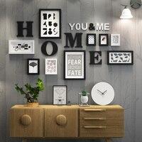 Solid Wood Large Picture Frames Modern Living Room Painting Photo Frame Set Big Size Wooden Letter