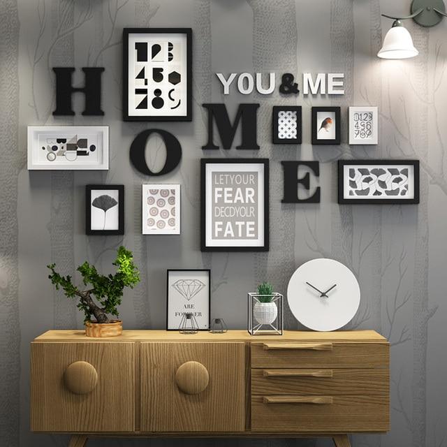 Solid Wood Large Picture Frames Modern Living Room ...