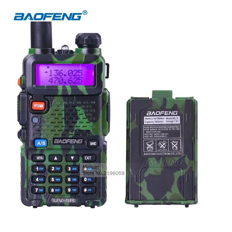 bilder für Baofeng uv-5r militär walkie talkie dual band vhf uhf handfunkamateure communicator tragbare 2 funkgeräte für jagd radio