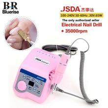 BLUERISE JSDA Nail Drill 65W Pink Nail Art Equipment Manicure Tools Pedicure Acrylics Grey Electric Nail Drill Pen Machine Set