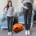 Хлопок Материнства Брюки Повседневная Беременность Брюки для Беременных Высокого Высокая Эластичность Комфортно Весна Беременных Одежда