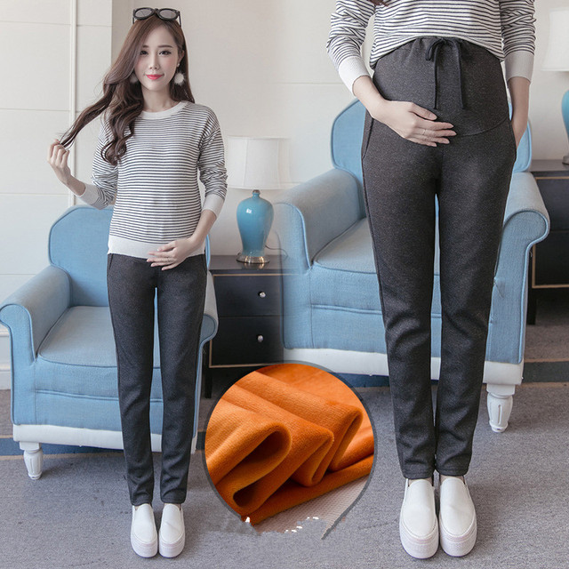 Cotton Maternity Pants Casual Pregnancy Trousers for Pregnant Women High High Elasticity Comfortable Spring Pregnant Clothes
