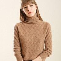 DSANNINGT Thick Turtleneck Warm Women Sweater Autumn Winter Knitted Femme Pull High Elasticity Soft Female Pullovers Sweater