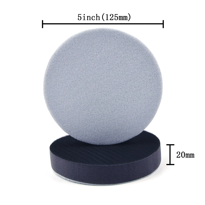Image 2 - POLIWELL 5 Inch 125 mm Thickened Soft Sponge Interface Pad for Hook and Loop Sanding Disc Backing Buffering Pads (20MM Thick)-in Abrasive Tools from Tools